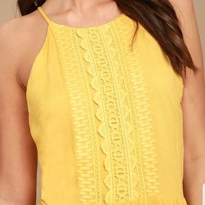 7afb69e83399 Lulu s Dresses - FOR LIFE GOLDEN YELLOW EMBROIDERED MAXI DRESS